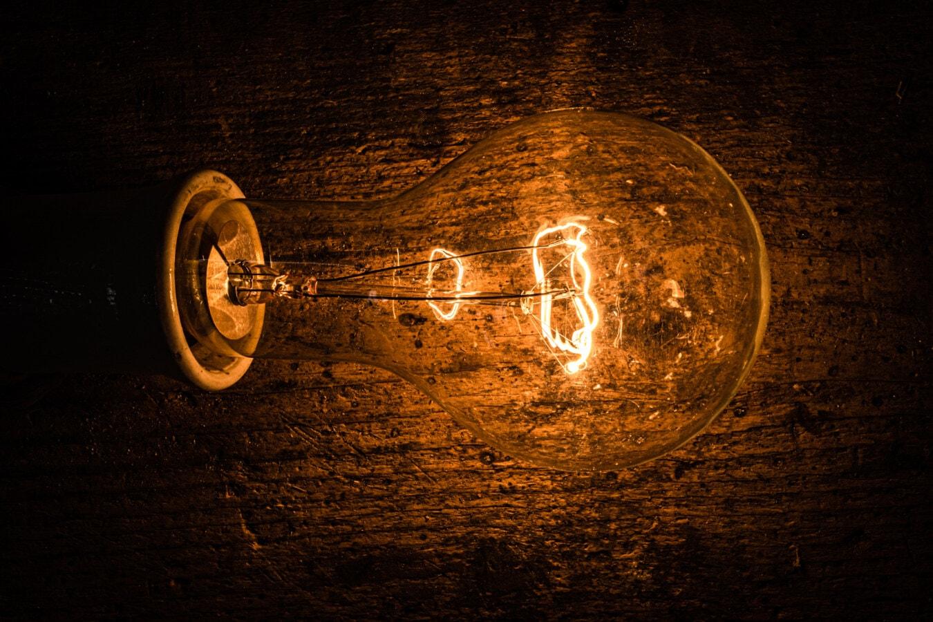 light bulb, darkness, old style, vintage, electricity, voltage, filament, bulb, dark, light
