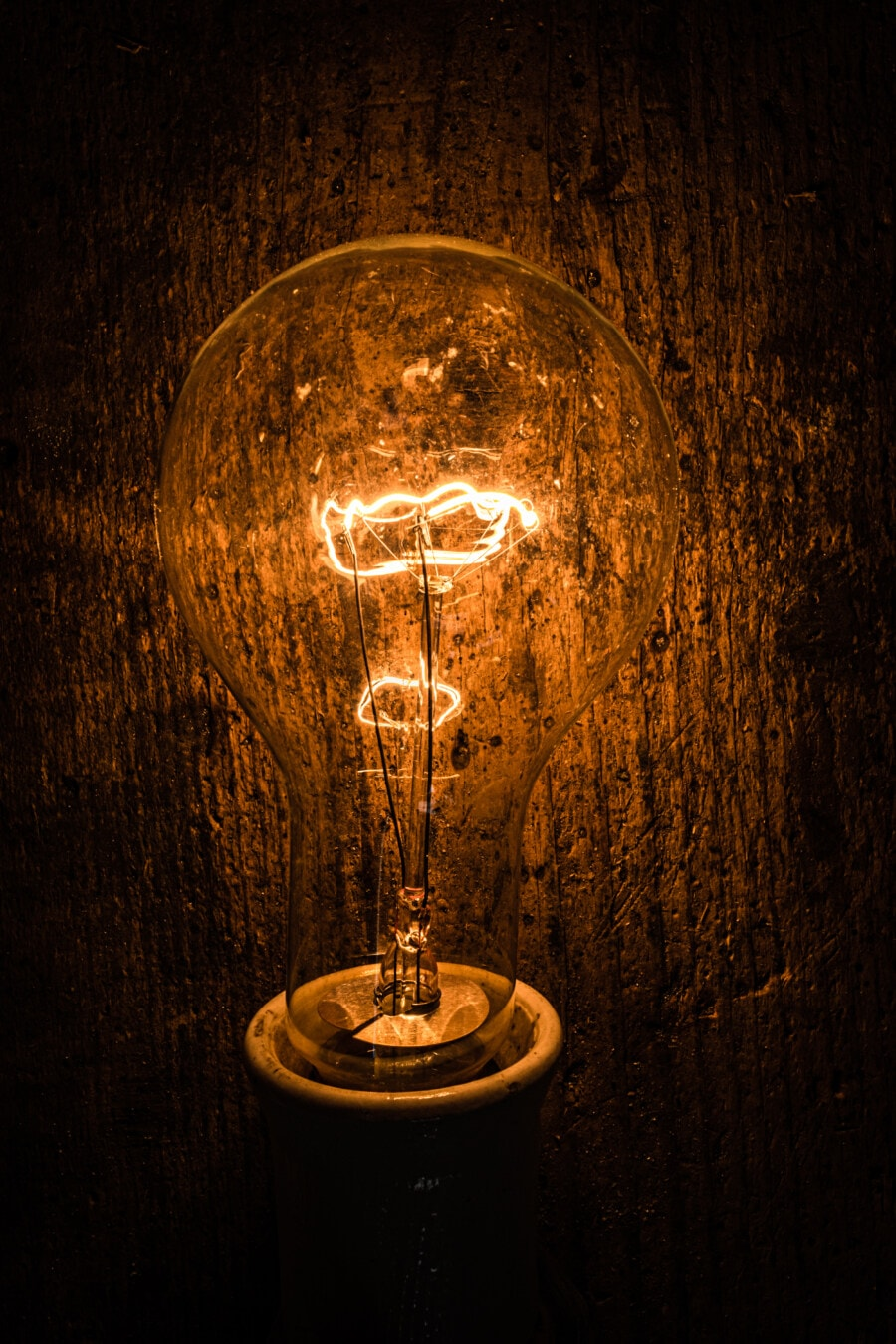 light bulb, vintage, darkness, wires, illumination, filament, bulb, electricity, dark, light