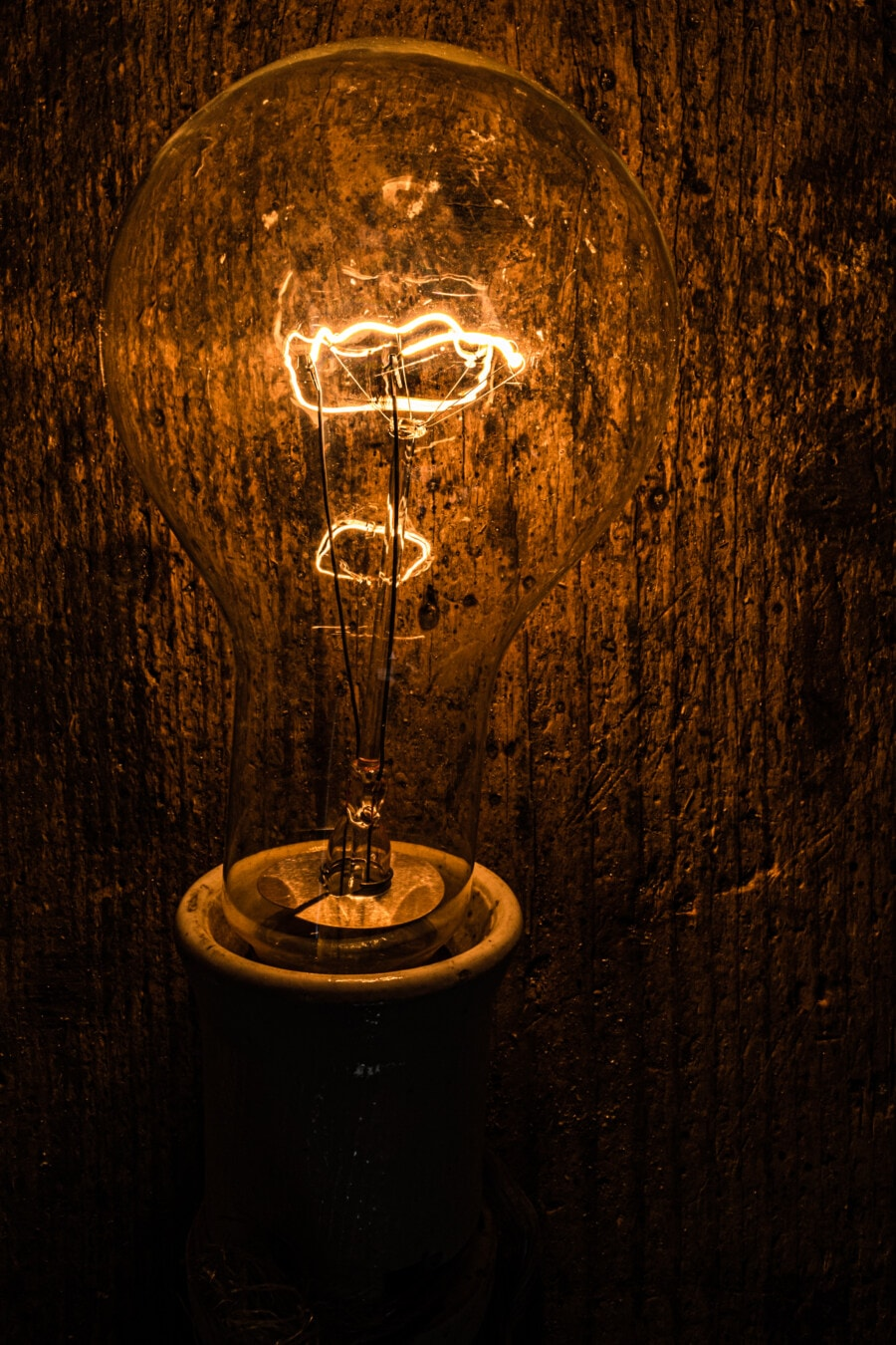 light bulb, filament, antiquity, luminescence, vintage, close-up, lamp, electricity, dark, old
