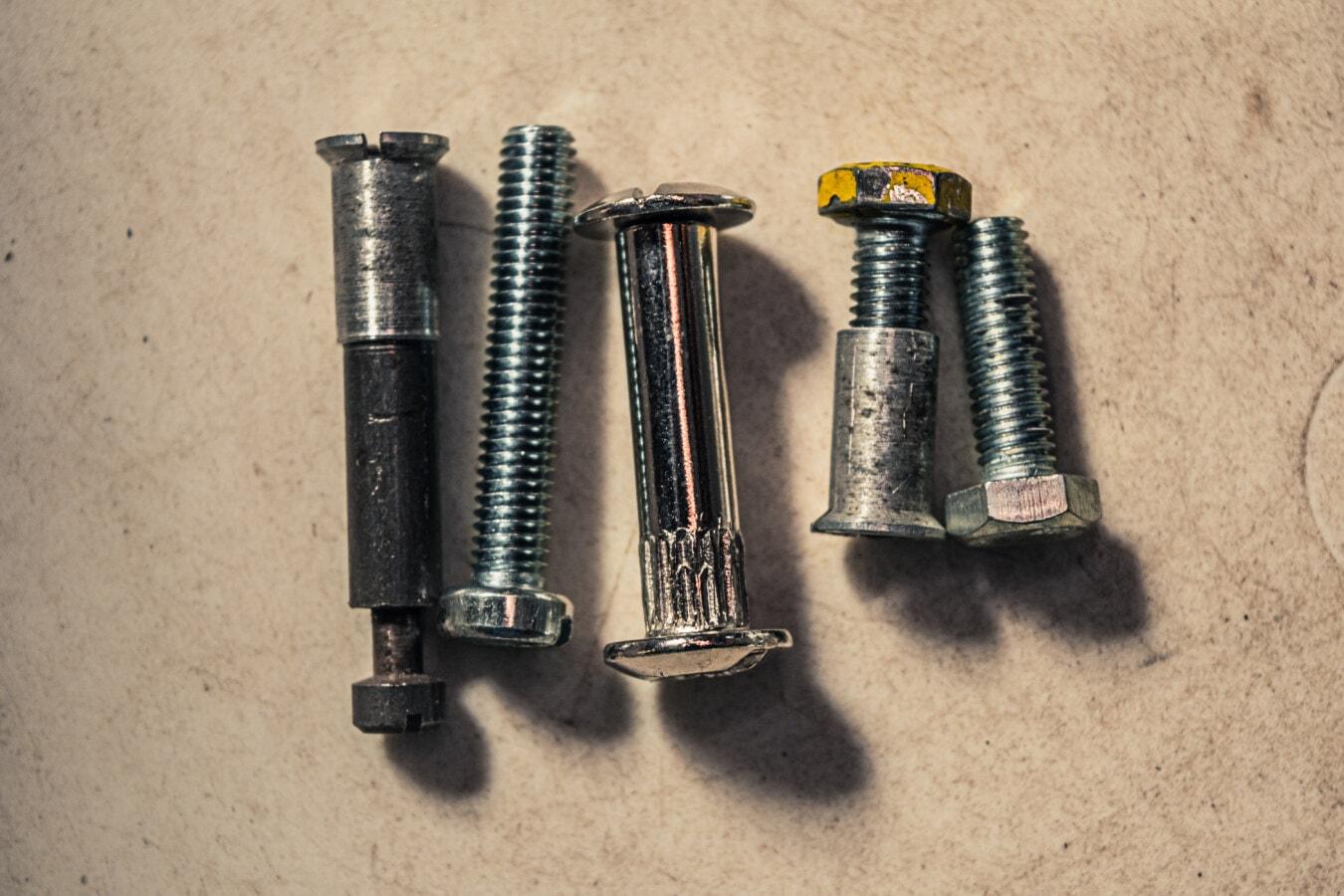 하드웨어, 스테인레스 스틸, 나사, 금속, 스틸, 산업, 기술, 철, 오래 된, 더러운