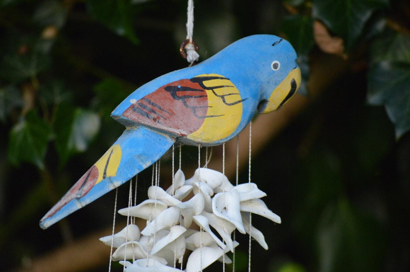 jouet, perroquet, ara, décoration, objet, suspendu, tropical, oiseau, couleur, brillant