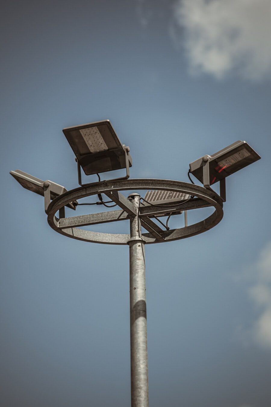 Straße, Lampe, moderne, Branche, Tageslicht, Edelstahl, Spannung, Strom, Ausrüstung, alt