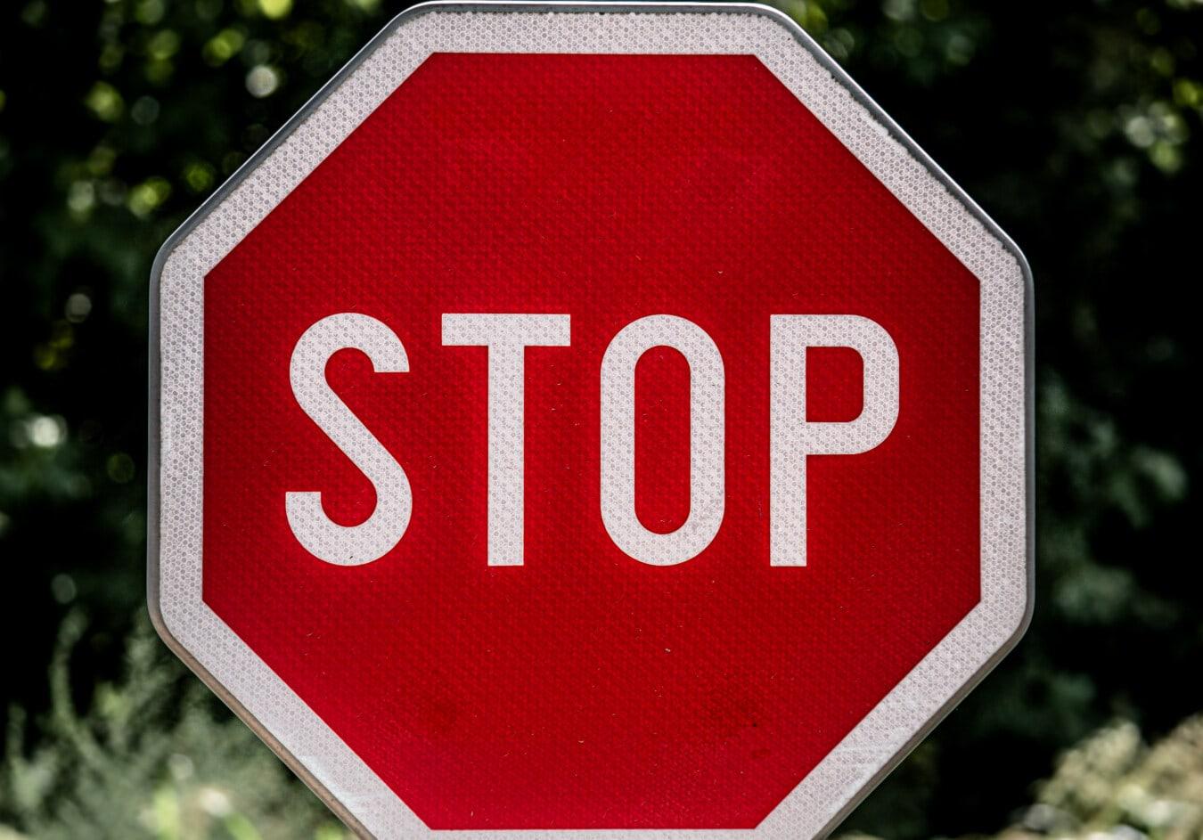 stop, sign, traffic control, traffic, alpha, symbol, text, alarm, road, warning