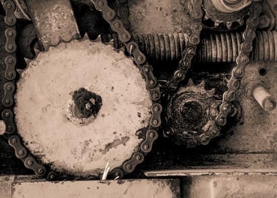 Metallgetriebe, Getriebe, Metall, Maschinen, Sepia, Teile, Kette, Stahl, alt, Kunst