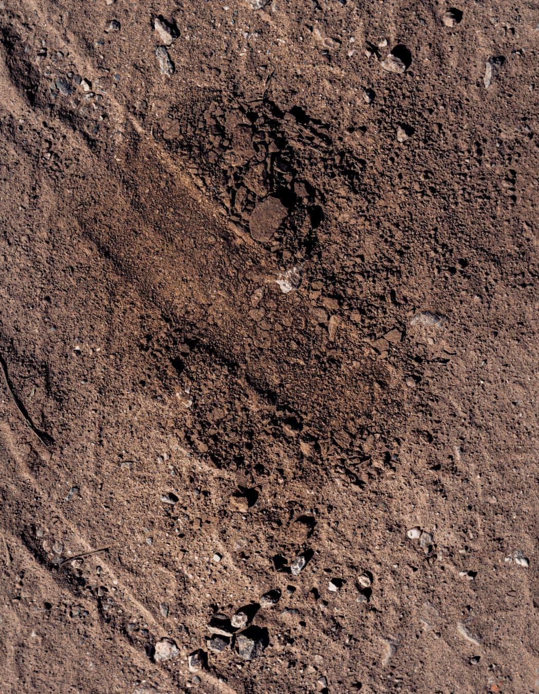 Trockenzeit, Boden, Boden, Kiesel, Staub, Braun, Textur, Material, rau, dreckig