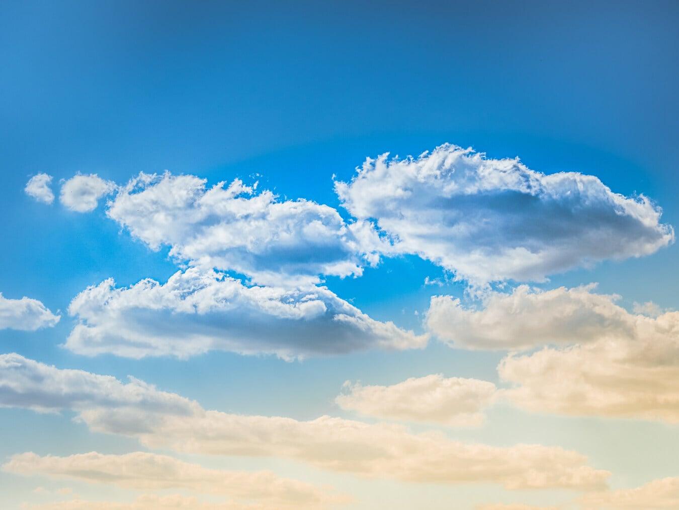 blauer Himmel, Wolken, Atmosphäre, Klima, Ozon, bewölkt, Meteorologie, Wetter, Sonne, bewölkt