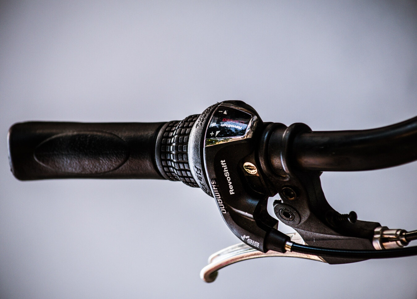 Changement de vitesse, vélo de montagne, frein, volant de direction, vélo, unité, vélo, roue, modèle, antique