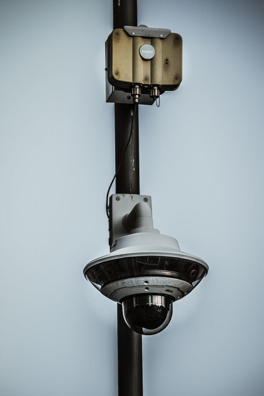 drahtlose, Überwachung, Video, Video-Aufzeichnung, Kamera, Control, Sicherheit, öffentliche, Objektiv, Strom