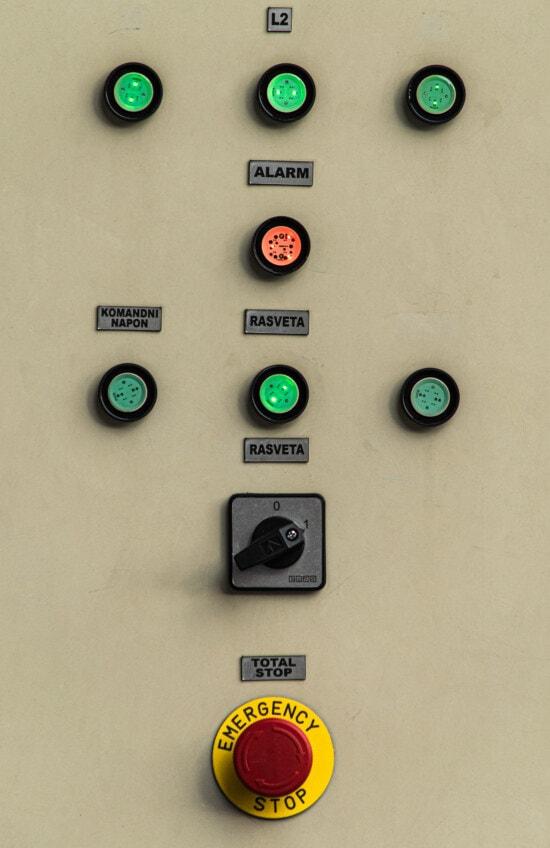 Stop, Tasten, Switch, Notfall, Elektronik, Warnung, Gefahr, Strom, Retro, Control
