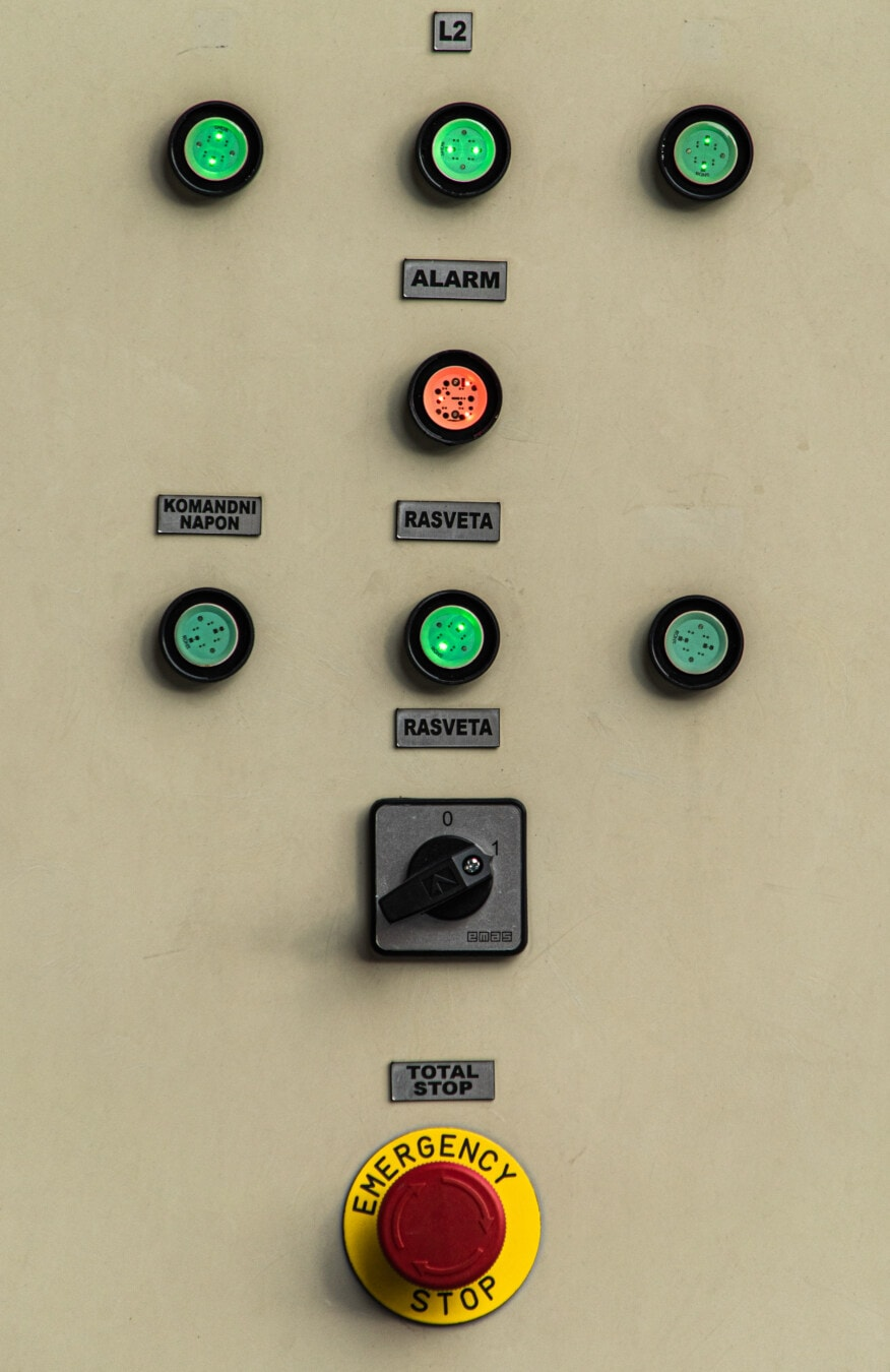 stop, buttons, switch, emergency, electronics, warning, danger, electricity, retro, control