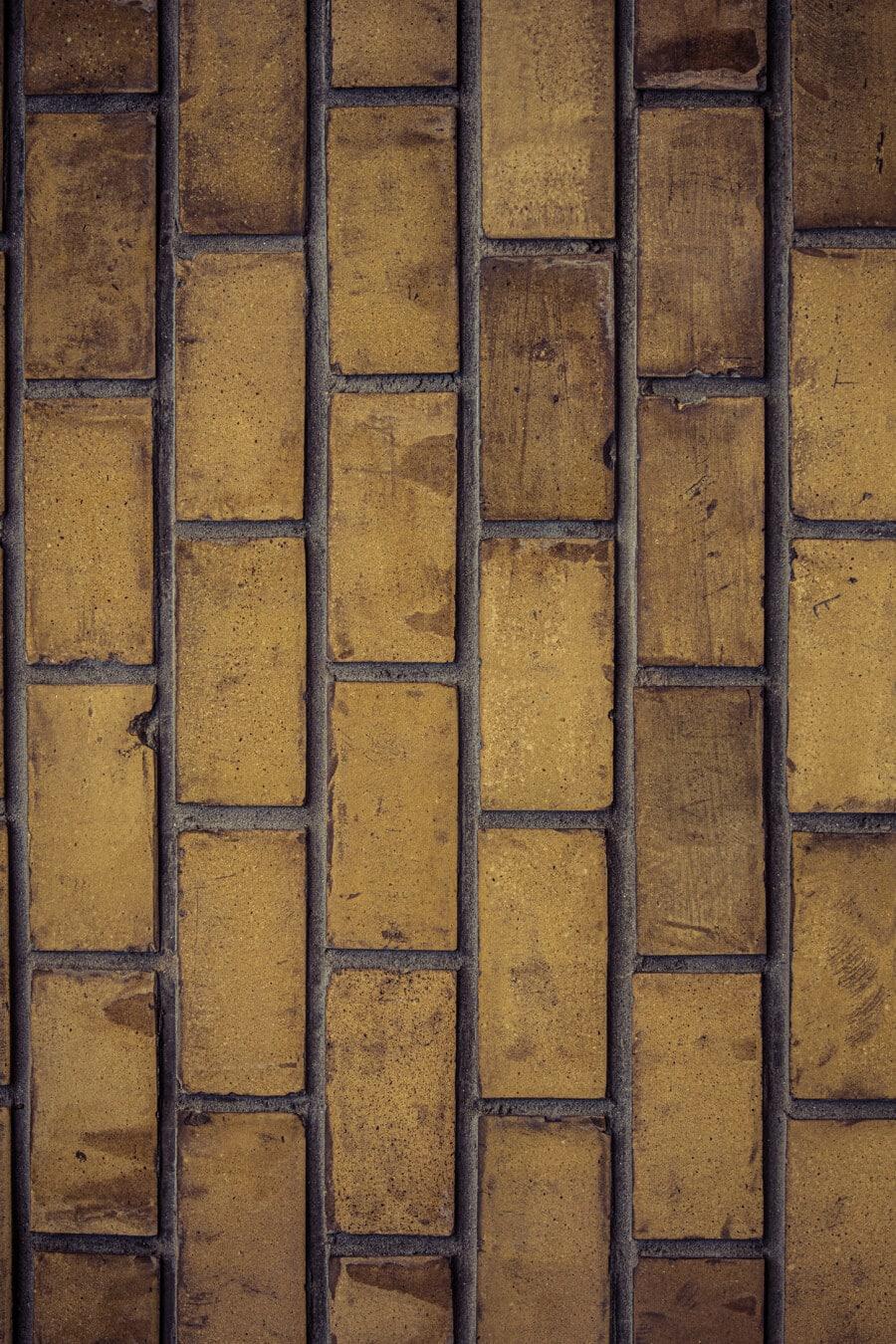 vertikale, Ziegel, Wand, Jahrgang, Muster, Mauerwerk, alten Stil, Zement, Mörtel, Textur