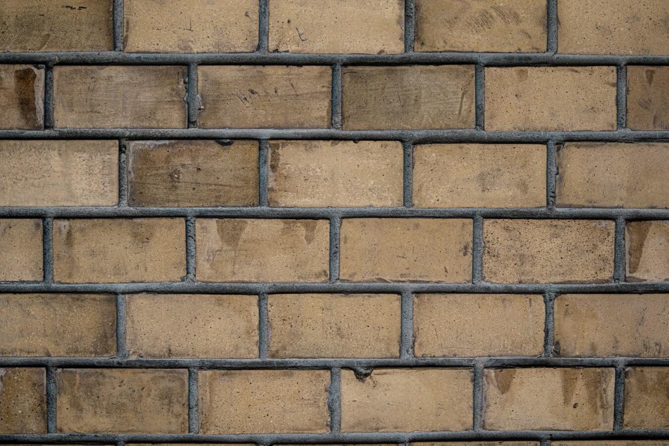 horizontal, Ziegel, Mauerwerk, Altmodisch, Mörtel, Beton, Wand, Zement, Gebäude, Oberfläche