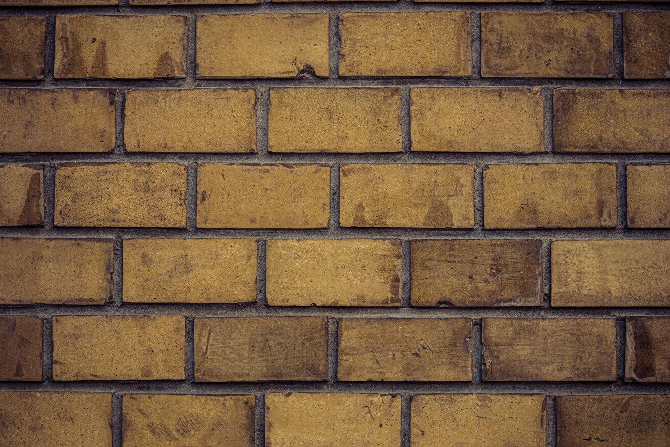 brun clair, solide, maçonnerie, briques, mortier, ciment, façade, texture, Grunge, béton