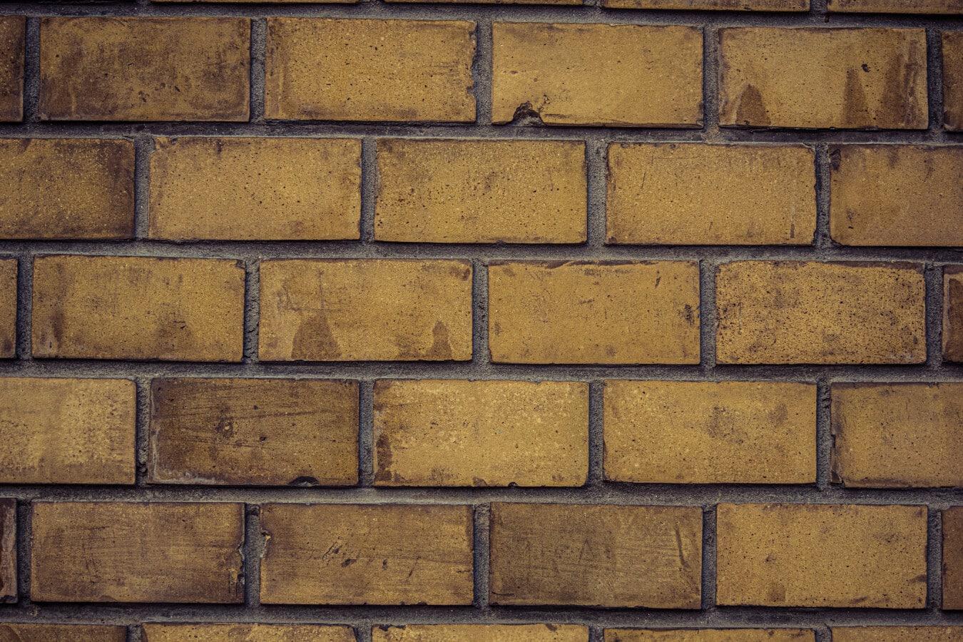brun clair, fermer, texture, briques, maçonnerie, régulière, horizontal, mortier, cube, Rough