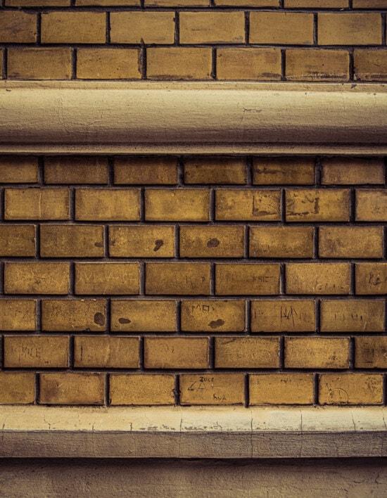 horizontal, Ziegel, Mauerwerk, gewöhnliche, Beton, Mörtel, Zement, Textur, Oberfläche, alt