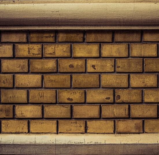 horizontal, Ziegel, Wand, hellbraun, Mörtel, Ziegel, Mauerwerk, Zement, Beton, alt