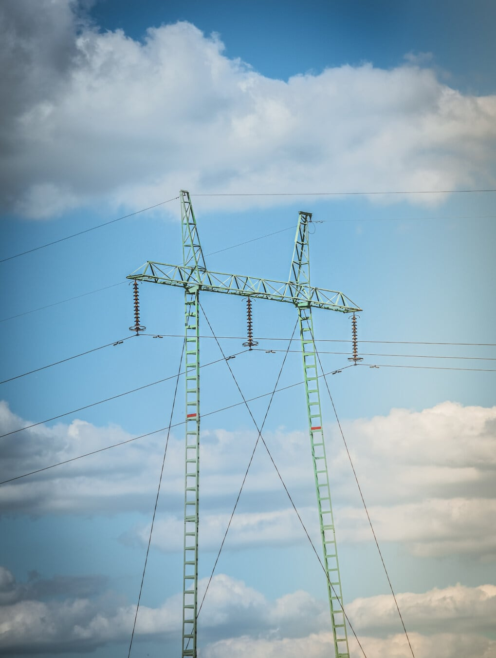 electricity, pylon, high, voltage, power, network, distribution, electric, cable, tower