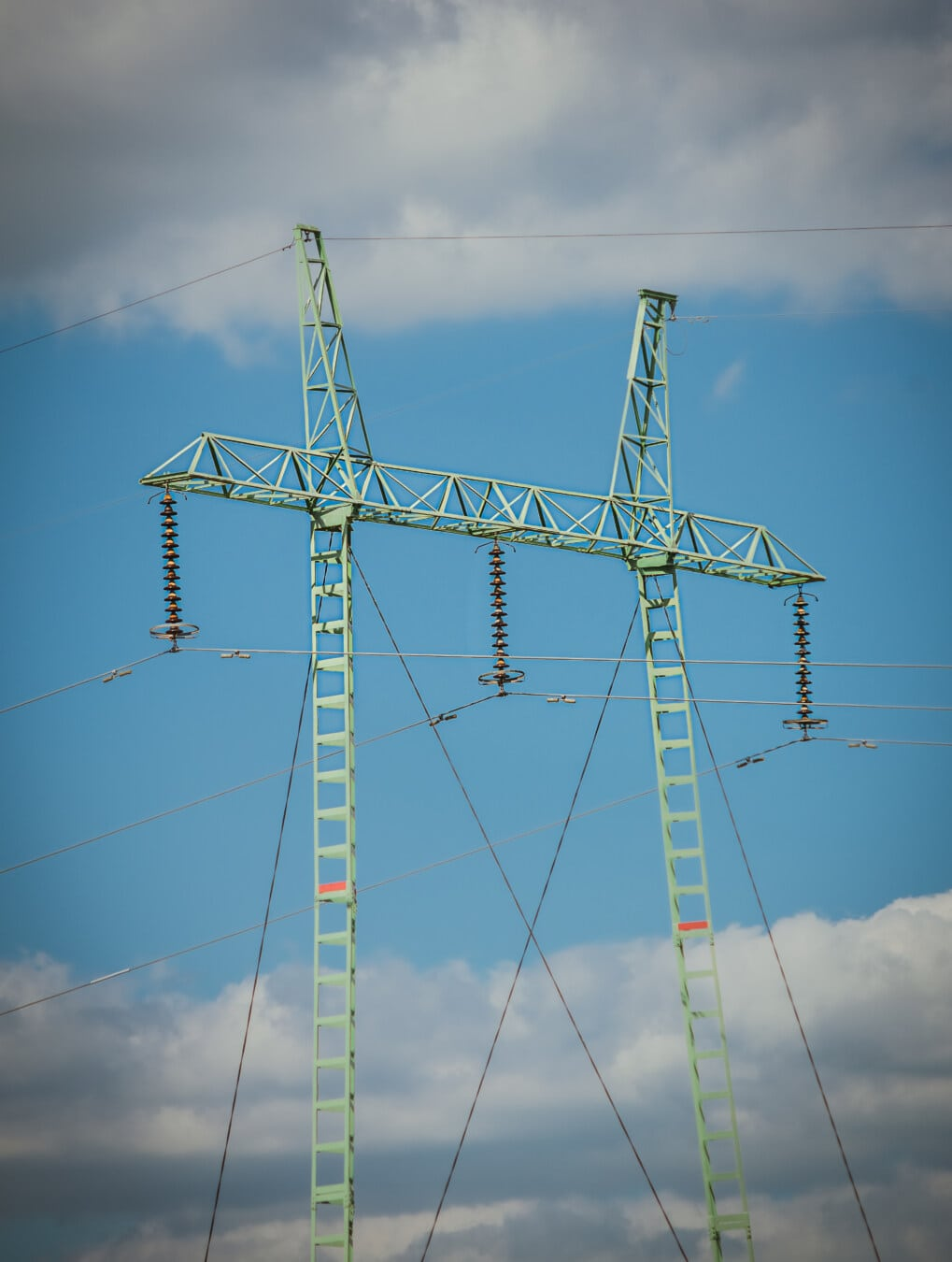 electricity, pylon, transmission, distribution, high, voltage, wires, energy, tower, cable