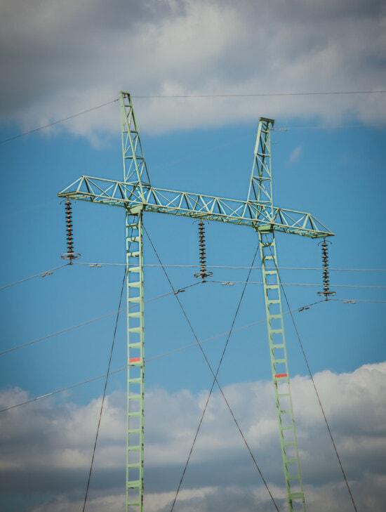 Strom, Pylon, Übertragung, Verteilung, hoch, Spannung, Drähte, Energie, Turm, Kabel