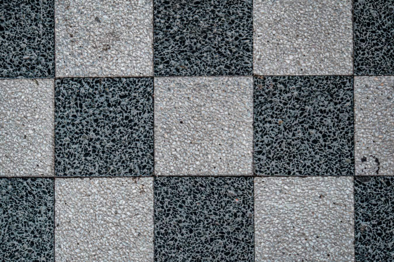 noir et blanc, texture, granit, marbre, cube, mosaïque, forme, géométrique, Rectangle, modèle