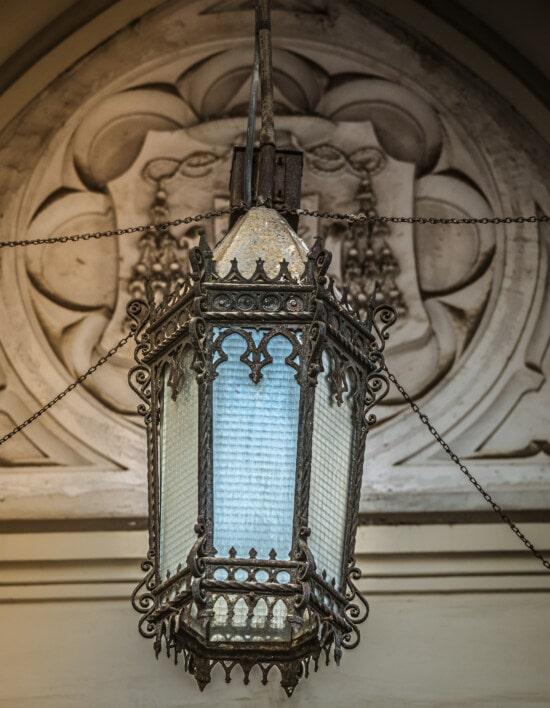 lantern, catholic, classic, chain, cast iron, style, chandelier, lamp, old, antique
