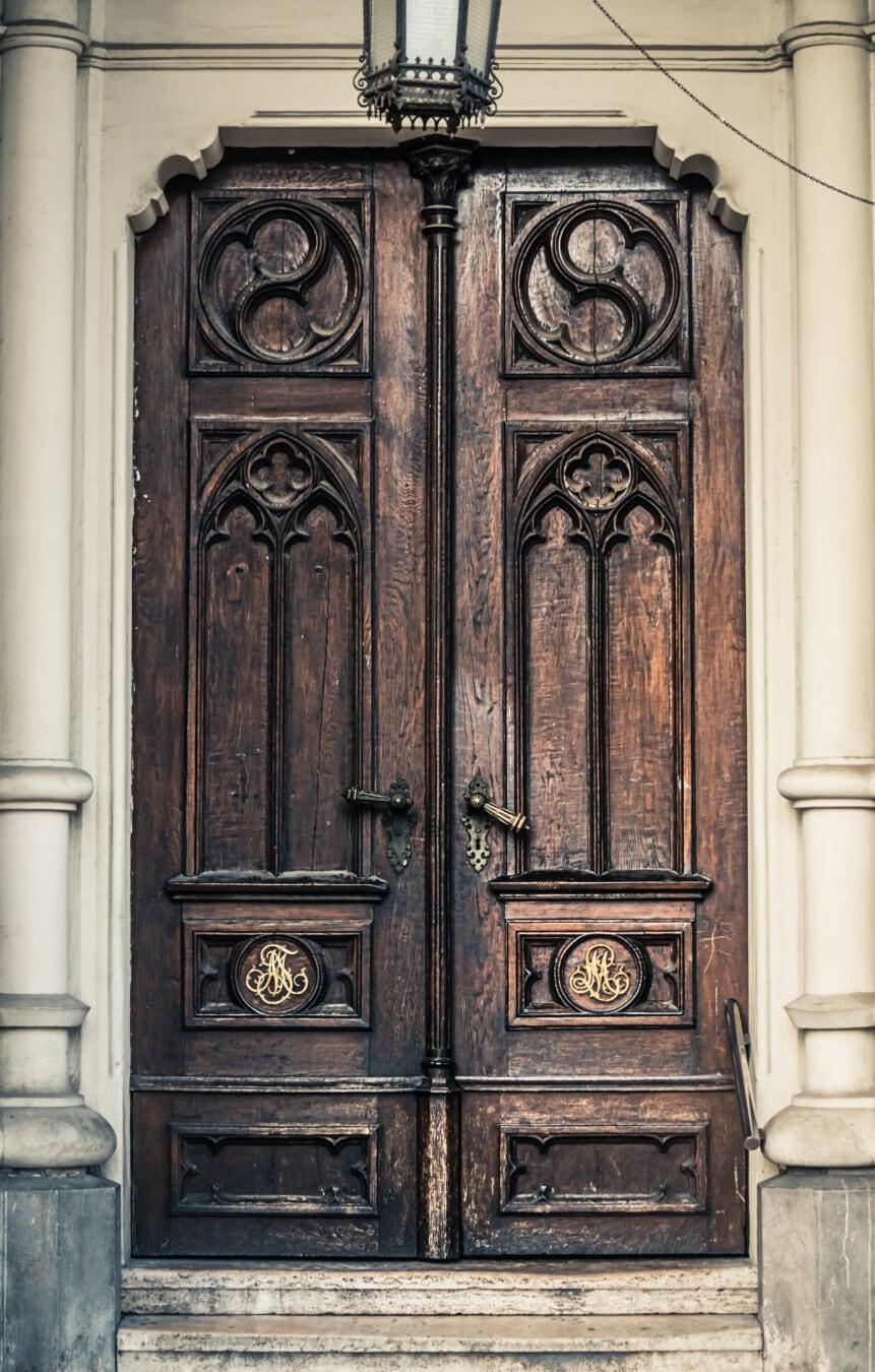 porte d'entrée, entrée, sortie, fait main, style ancien, menuiserie, artisanat, mesures, bois, Porte