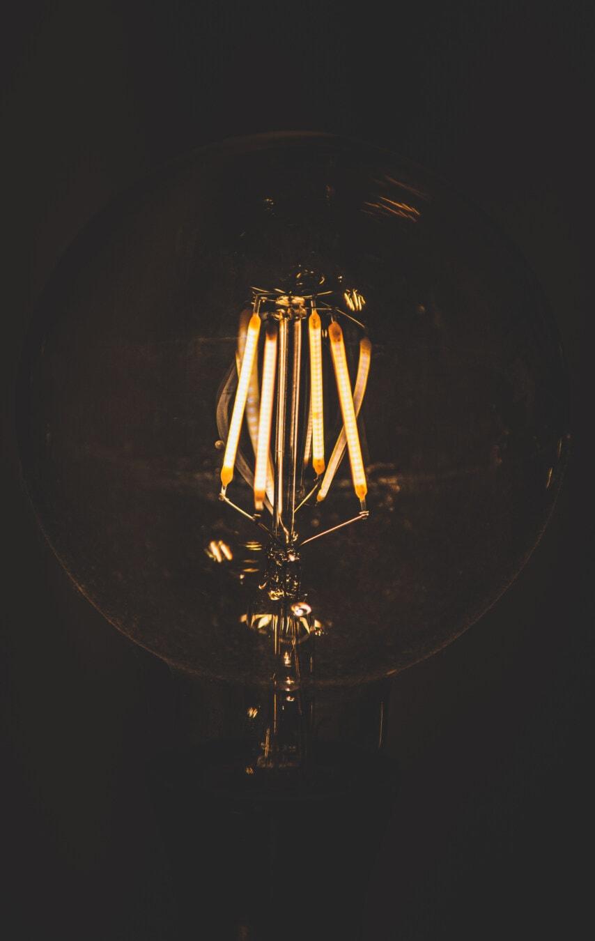 antiquity, filament, close-up, light bulb, vintage, luminescence, bright, light, illumination, lamp