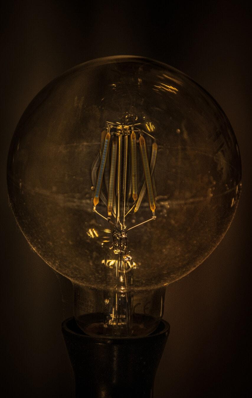 Lumineszenz, Filament, Drähte, surreal, Glühbirne, majestätisch, Licht, Spannung, Strom, Draht