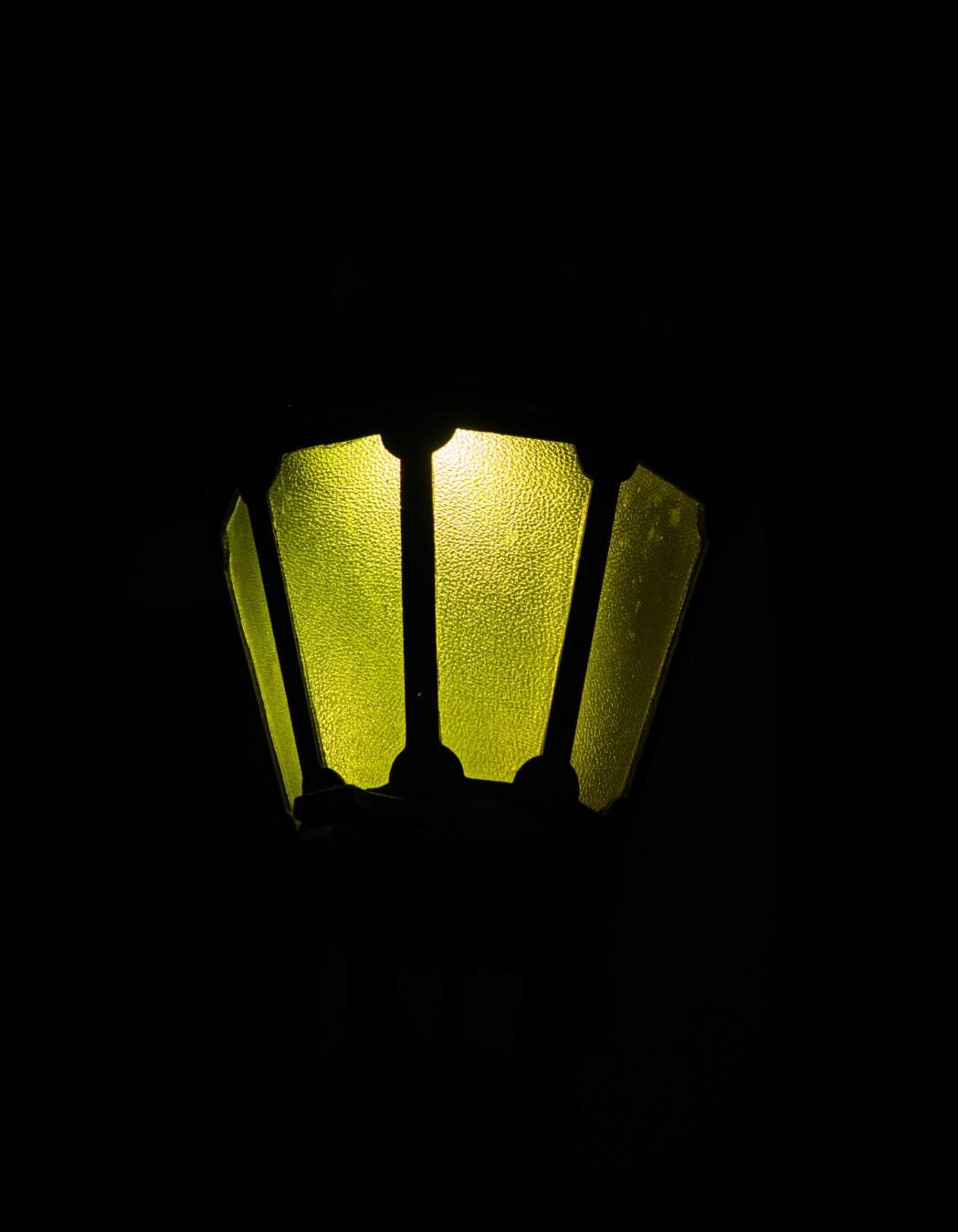 hell, grünlich gelb, Licht, Dunkelheit, Laterne, Lampe, Strom, Glühbirne, Dunkel, fluoreszierende