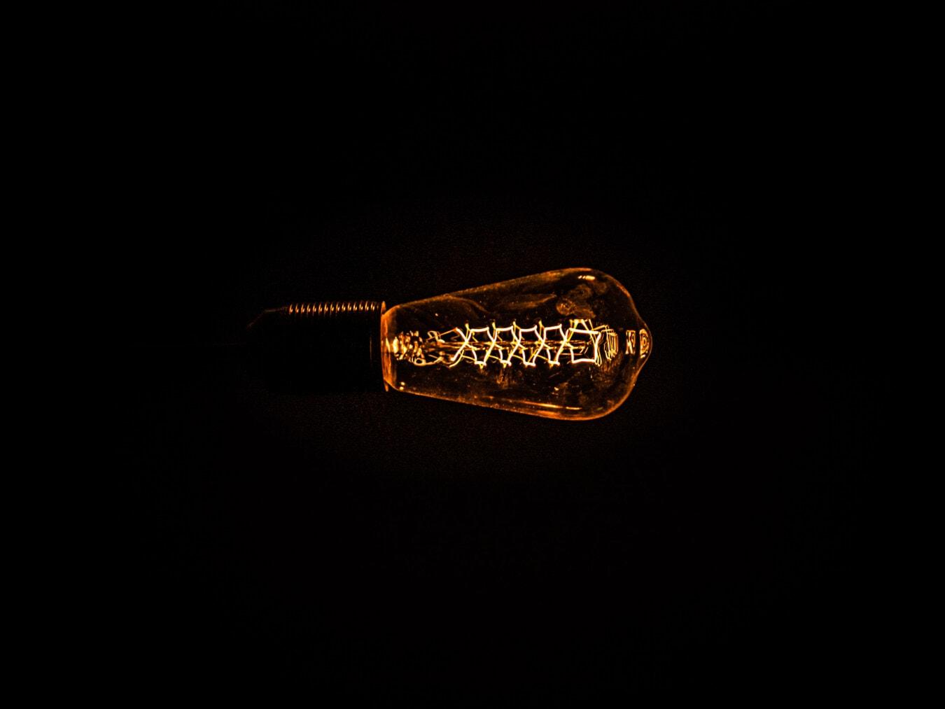 Sepia, Jahrgang, Glühbirne, Abbildung, Dunkelheit, Nacht, Altmodisch, Dunkel, Monochrom, Reflexion