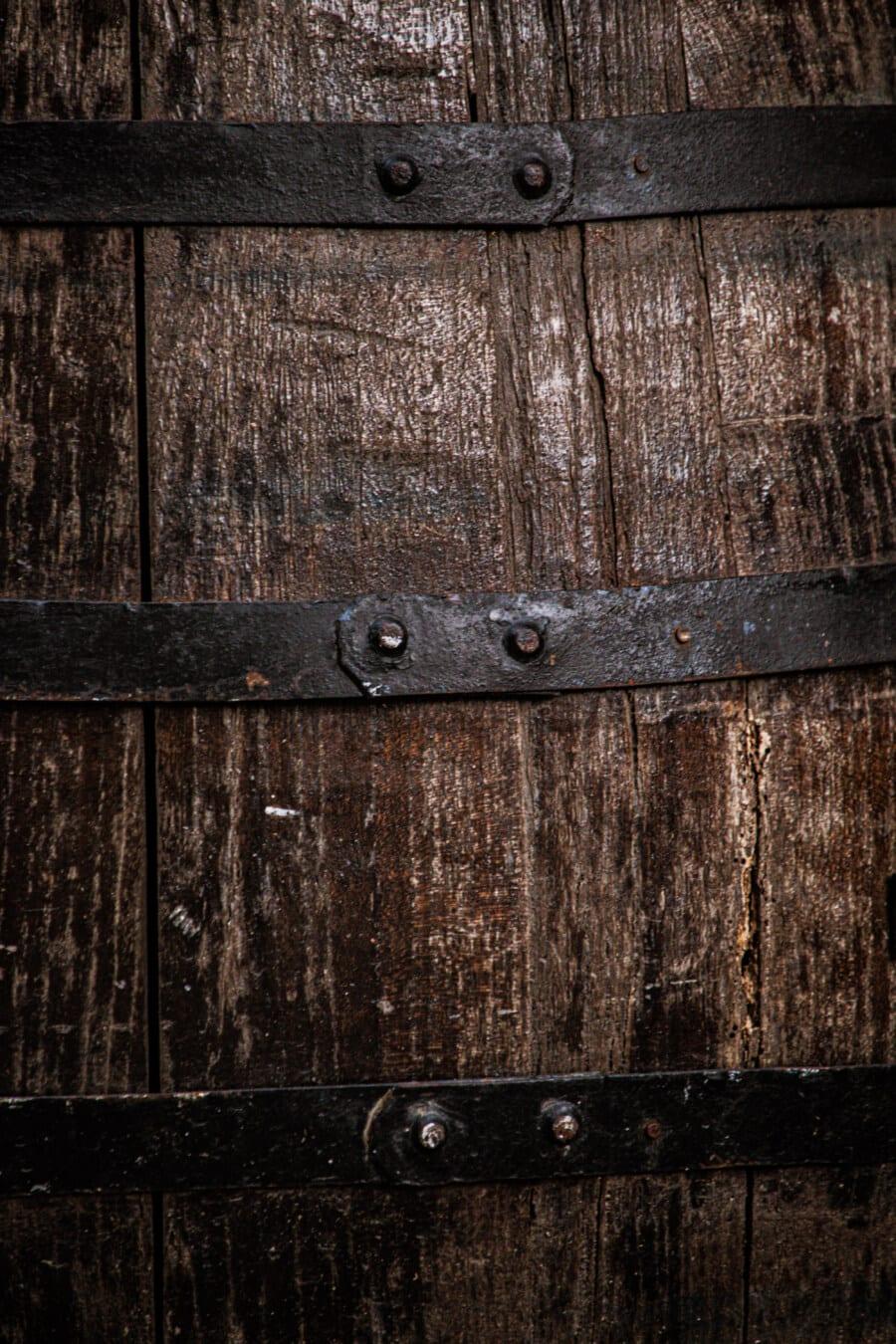 barrel, wooden, texture, planks, vintage, cast iron, iron, old, wood, board