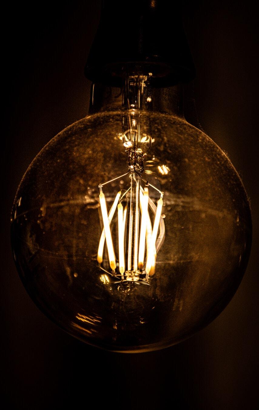 innen, Licht, Fackel, Glühbirne, Lumen, hellbraun, Beleuchtung, Drähte, glänzend, Lumineszenz