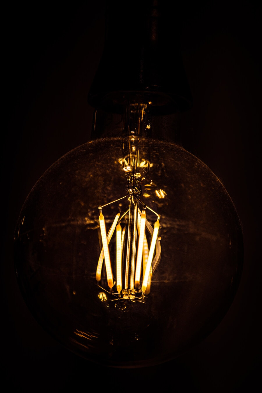 insidan, glödlampa, vintage, glödtråden, kablar, glödlampa, tråd, elektricitet, ljus, lampan