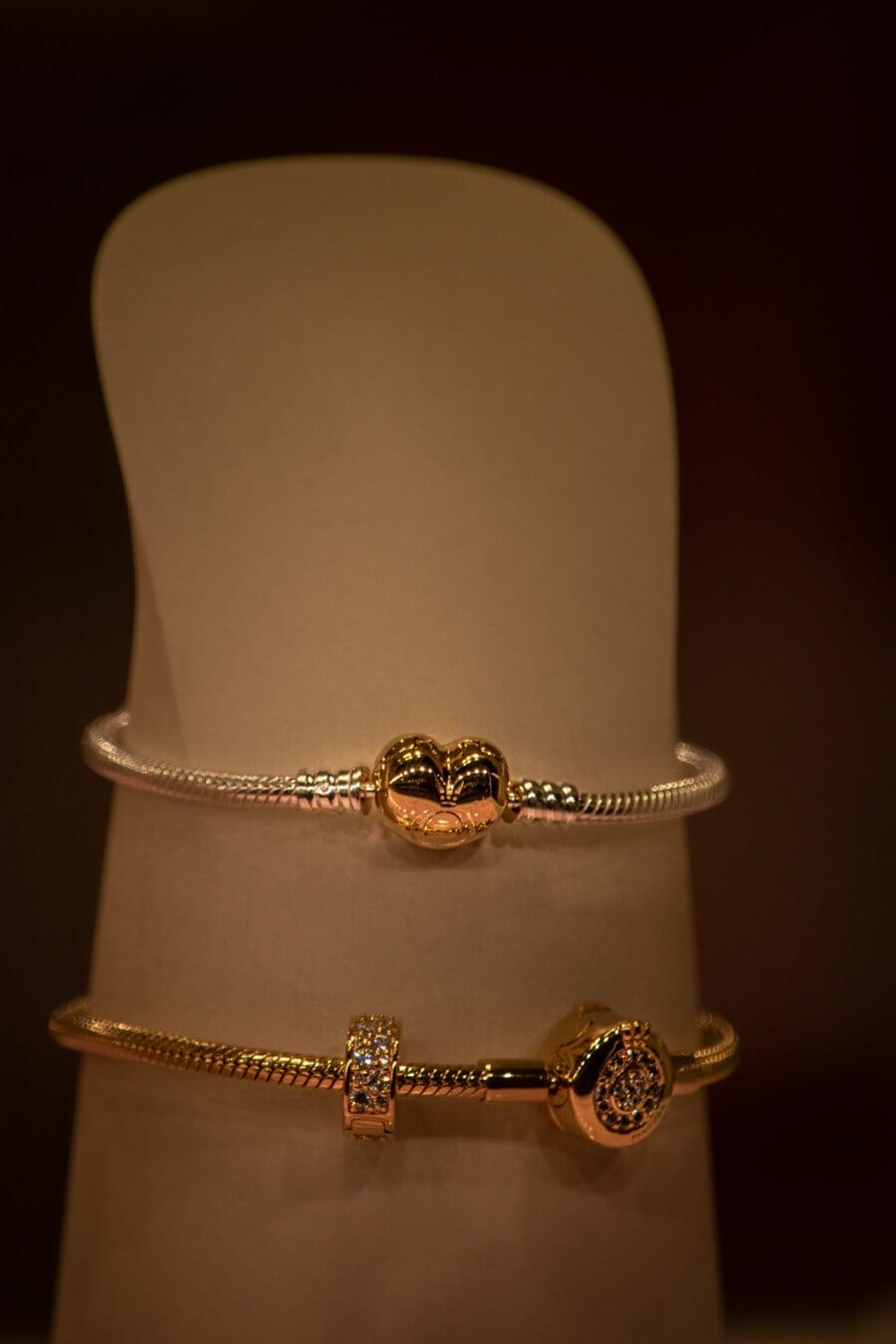 brillante, éclat doré, Collier, FLARE, or, bijoux, mode, luxe, jeune fille, élégant