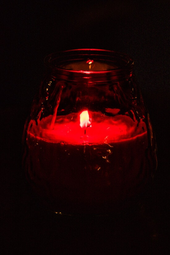 fragrance, candle, candlelight, dark red, flame, glass, light, still life, color, art