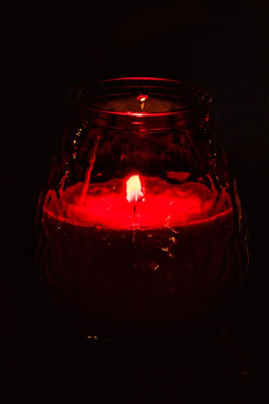 fragrance, bougie, aux chandelles, rouge foncé, flamme, verre, lumière, nature morte, couleur, art