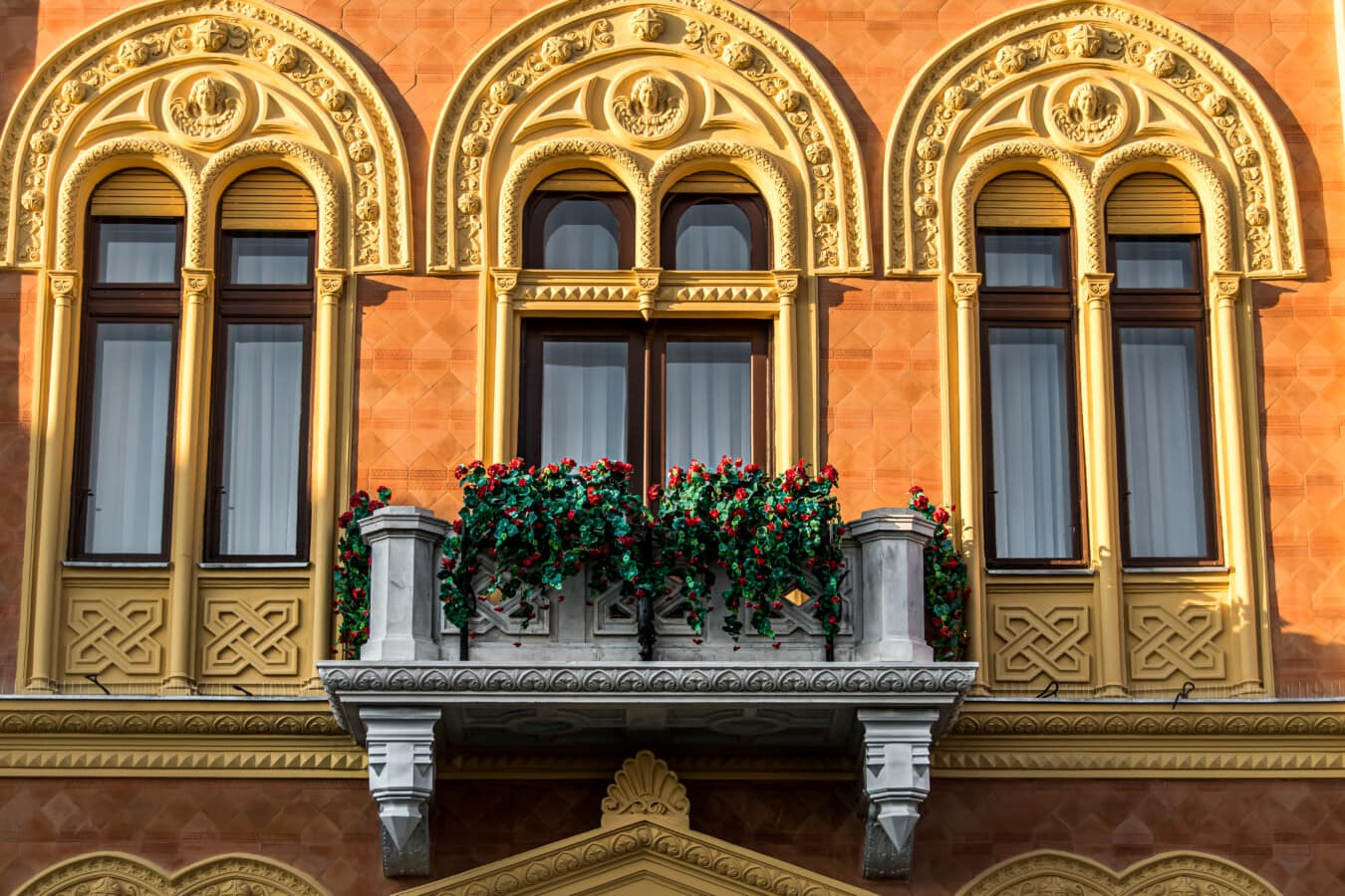 palais, Résidentiel, balcon, maison, luxe, façade, architecture, bâtiment, vieux, fenêtre