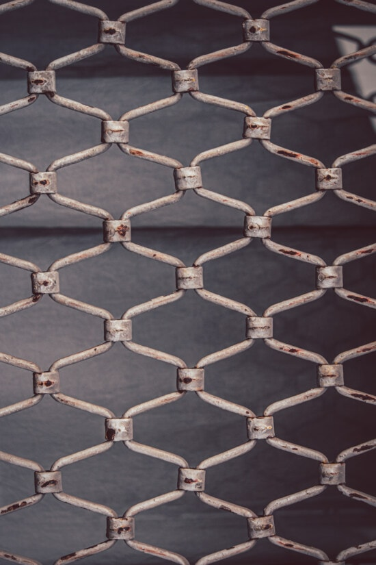fence, white, texture, metal, rust, vertical, grid, pattern, steel, iron