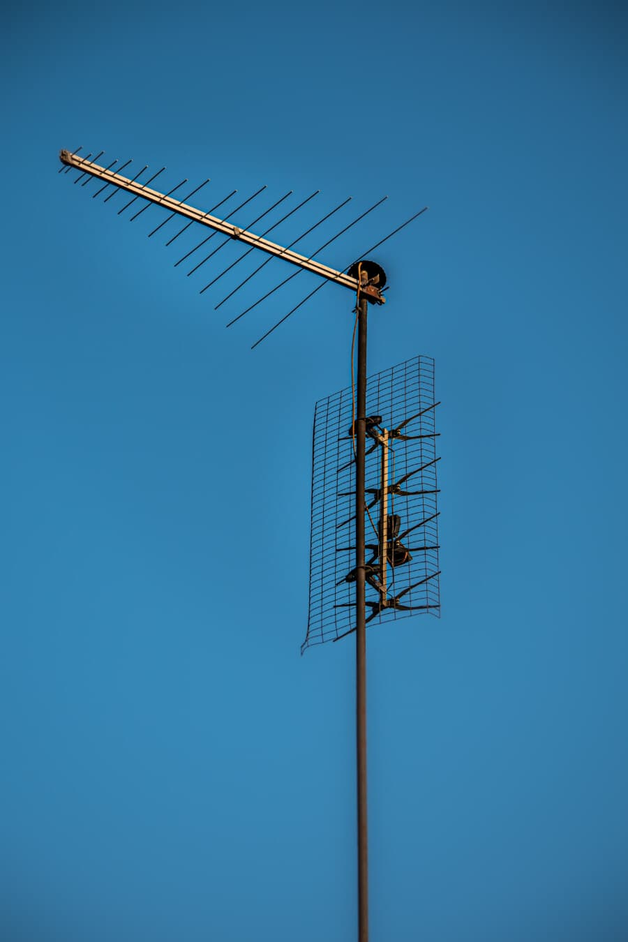 récepteur, télévision, antenne, signal, transmission, sans fil, câble, électricité, fil, énergie