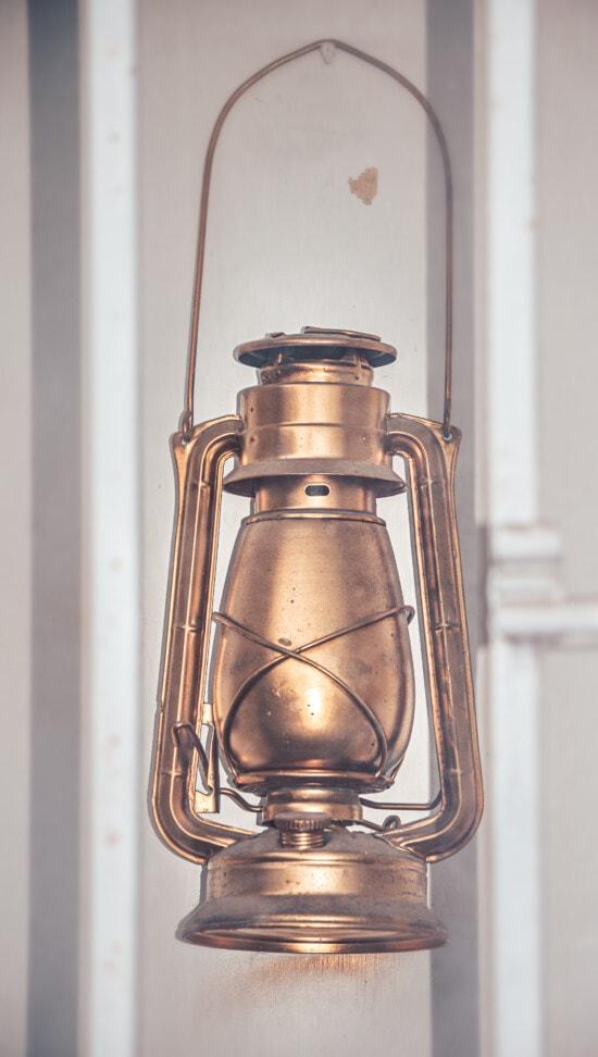 petroleum, lantern, historic, vintage, golden shine, glass, lamp, retro, antique, old, classic