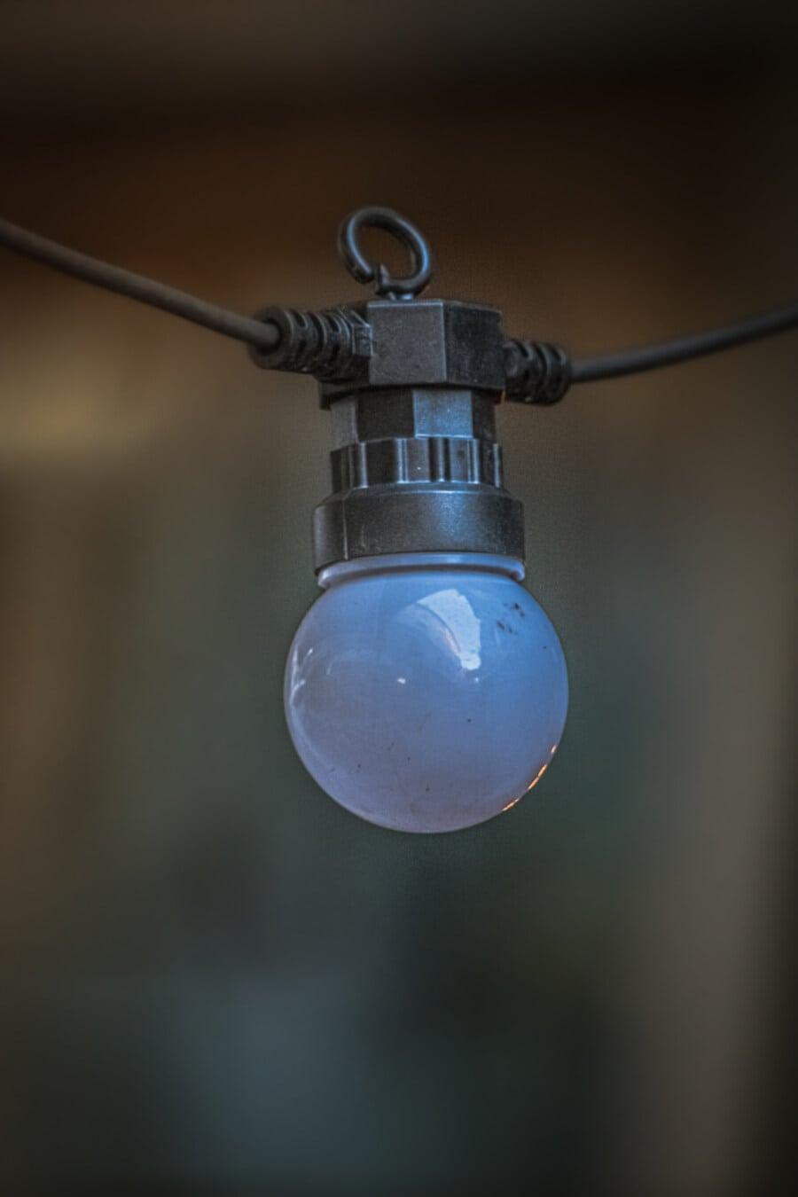 bec, moderne, alb, negru, sârmă, cablu, energie electrică, lampa, bec, iluminate