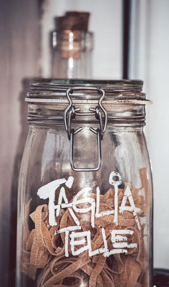 jar, italian, pasta, food, glass, handmade, vintage, traditional, vertical, ingredients