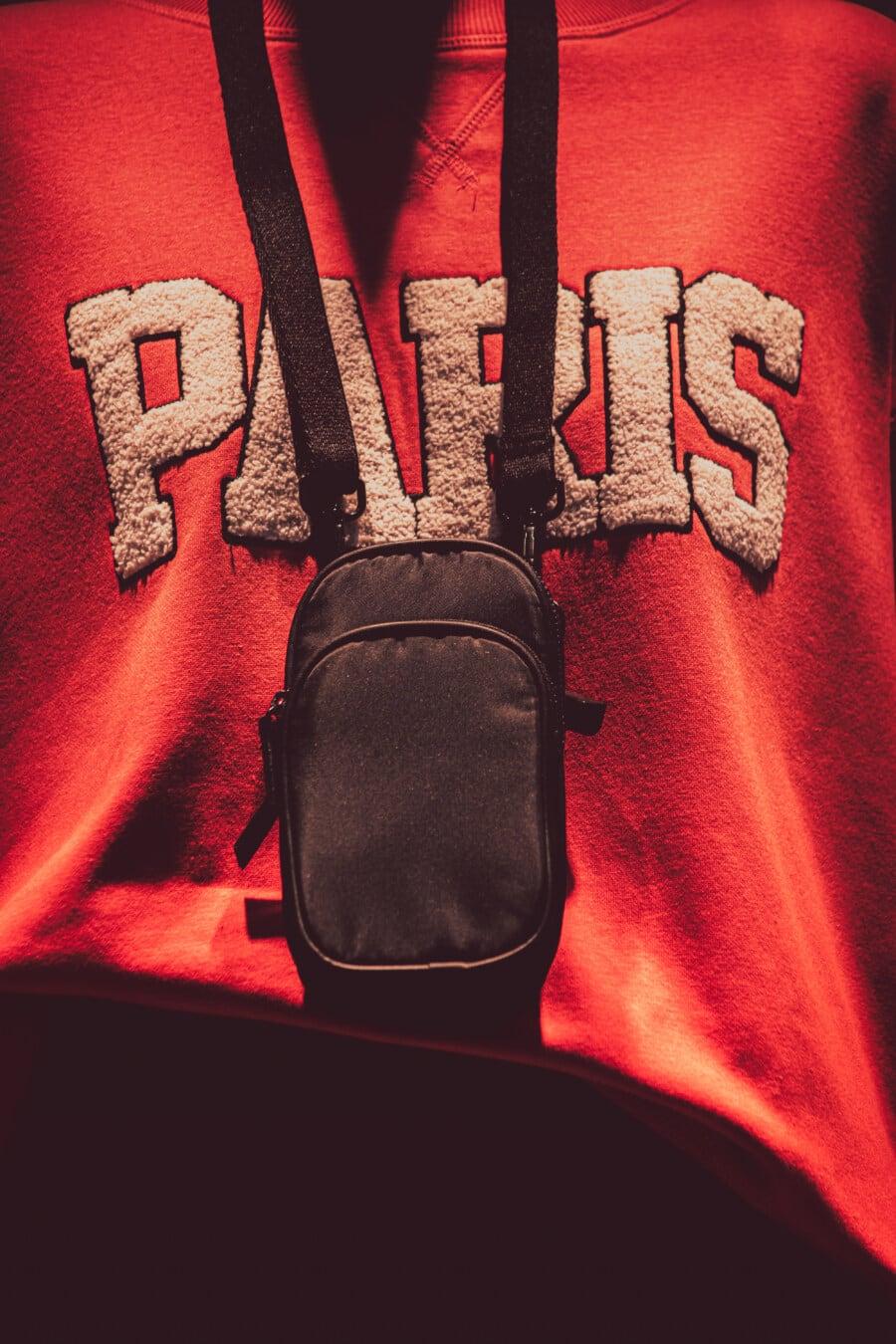 Paris, mode, Pull, matériel, velours, tissu, à l'intérieur, retro, sombre, lumière