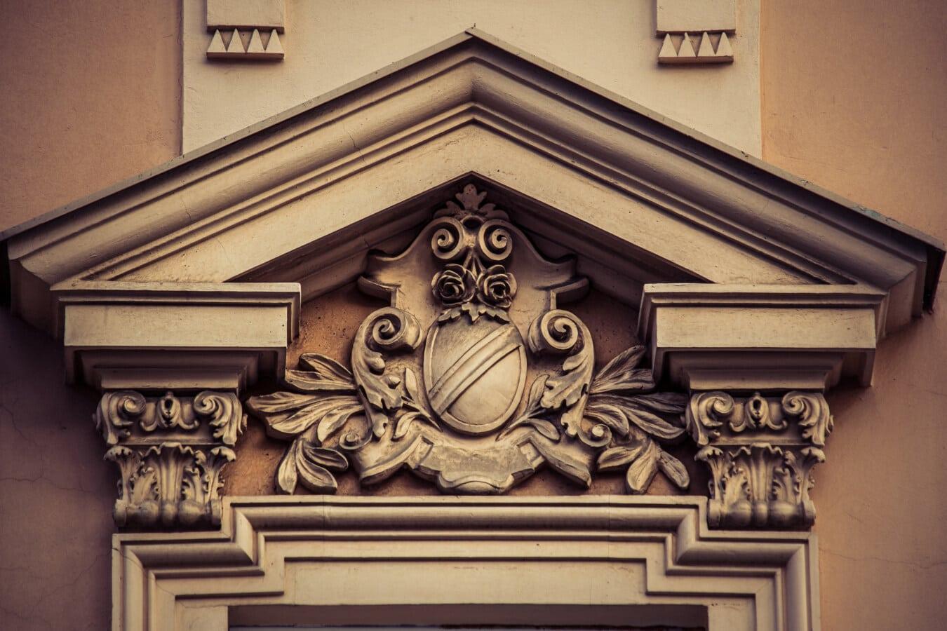 Fassade, viktorianischen, architektonischen Stil, Rahmen, Fenster, Jahrgang, Architektur, Kunst, Klassiker, Holz