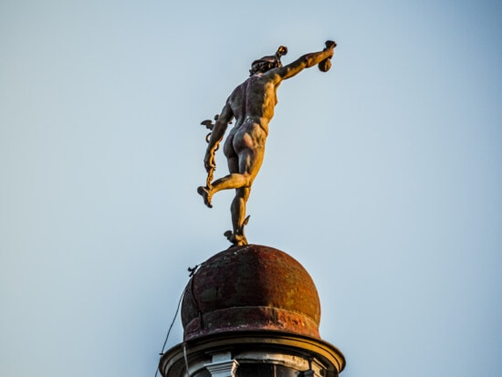 statue, dome, rooftop, baroque, victorian, architectural style, roof, architecture, old, art