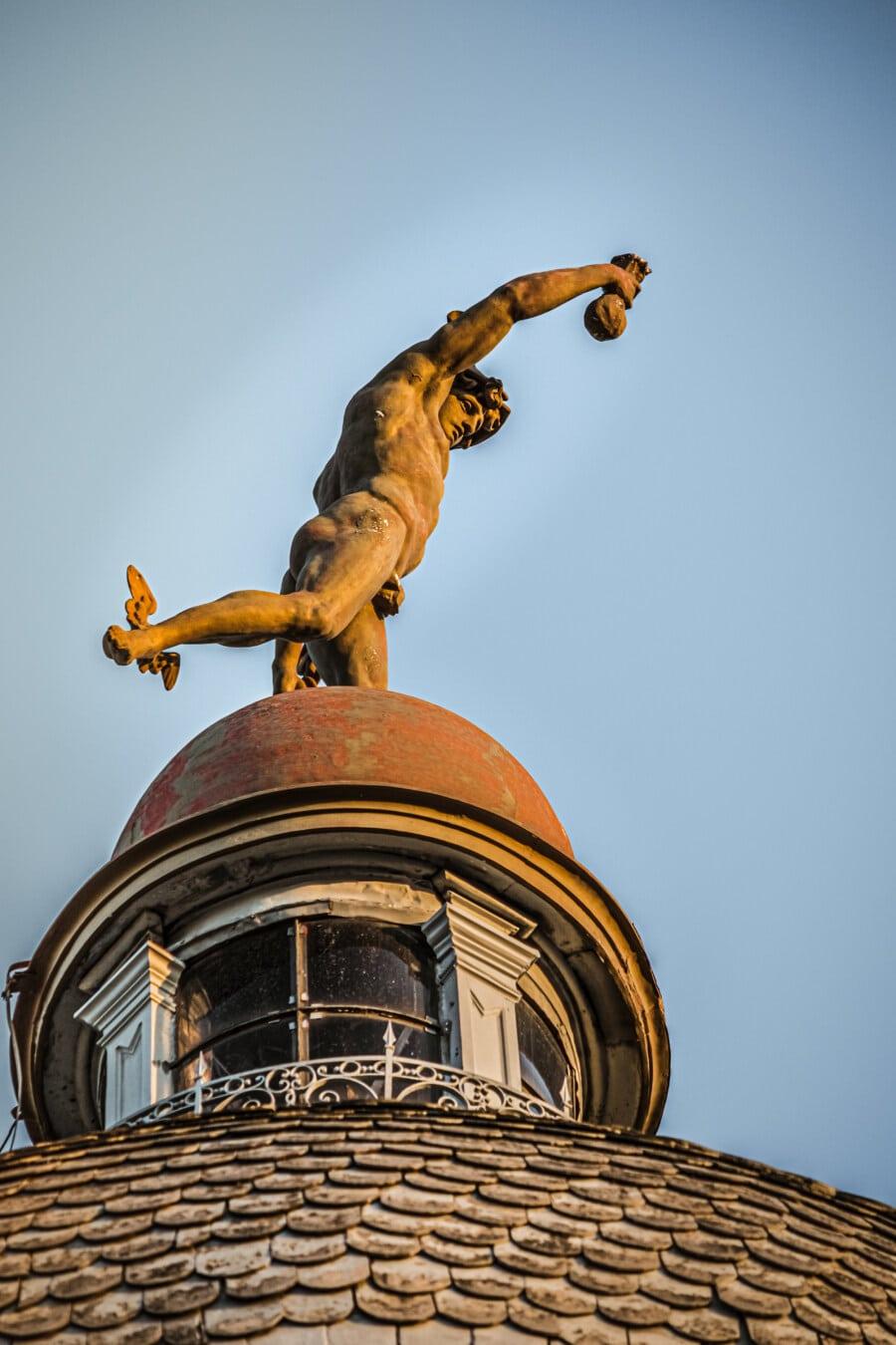 Statue, Skulptur, auf dem Dach, Kuppel, Barock, architektonischen Stil, Dach, alt, im freien, traditionelle