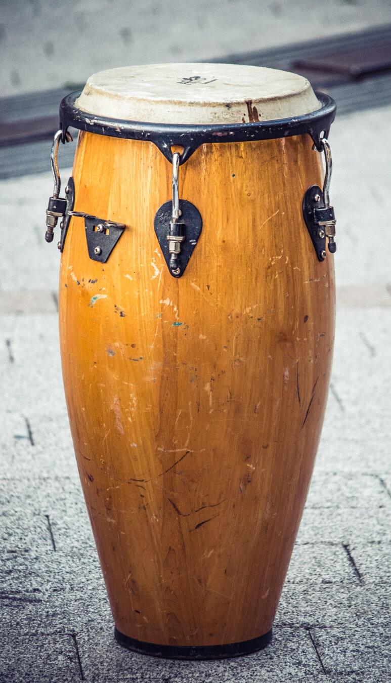 instrument, musical, bois, tambour, retro, vieux, musique, vintage, classique, en bois