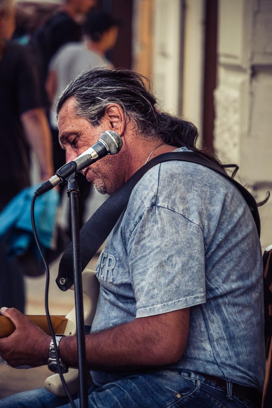 китарист, изпълнител, лице, производителност, музикант, мъж, музика, певица, концерт, фестивал