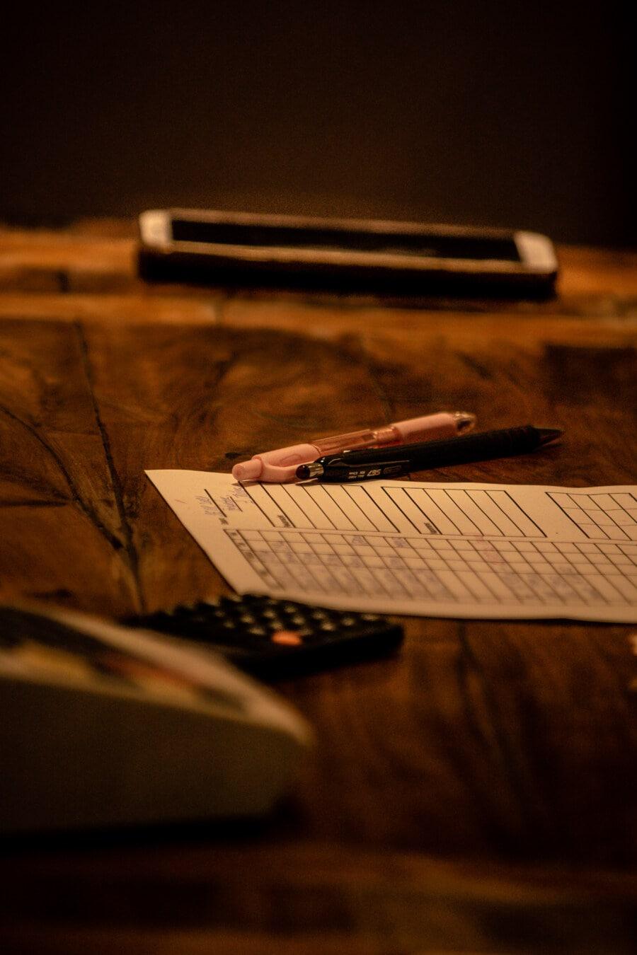 Schreibtisch, Büro, Bleistift, Papier, Papierkram, Dokument, Signatur, Still-Leben, Schreiben, verwischen