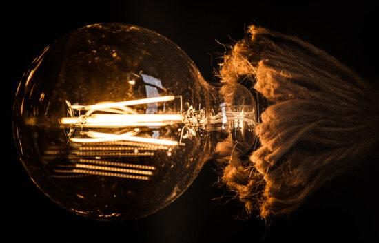 round, light bulb, shape, big, vintage, horizontal, flare, light, shining, bright